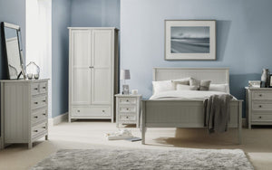 Julian Bowen Maine Dove Grey 2 Door Combination Wardrobe-Better Bed Company