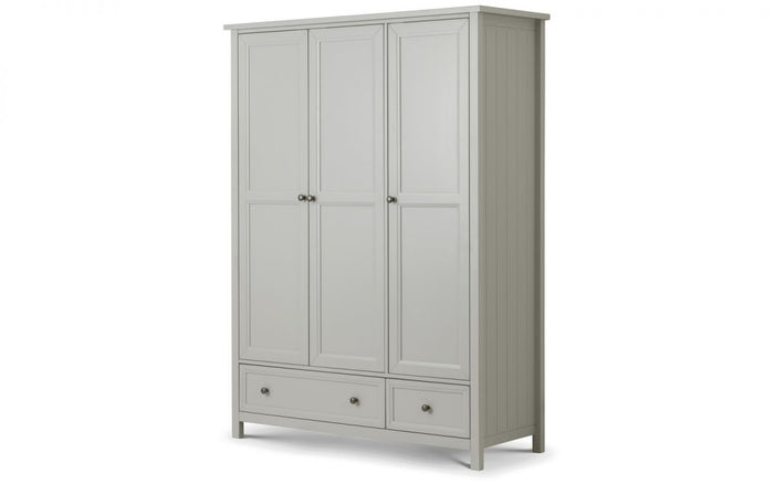 Julian Bowen Maine Dove Grey 3 Door Combination Wardrobe