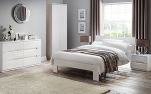 Julian Bowen Manhattan 2 Drawer Bedside Chest-Better Bed Company