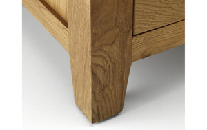 Julian Bowen Marlborough Oak 3 Drawer Bedside-Better Bed Company