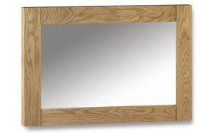 Julian Bowen Marlborough Oak Wall Mirror-Better Bed Company