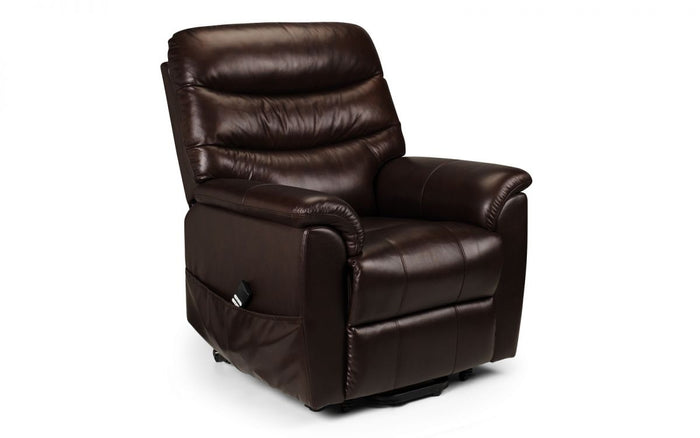 Julian Bowen Pullman Leather Dual Motor Rise And Recline Chair