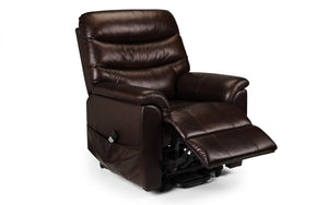 Julian Bowen Pullman Leather Dual Motor Rise And Recline Chair-Recliners-Better Bed Company