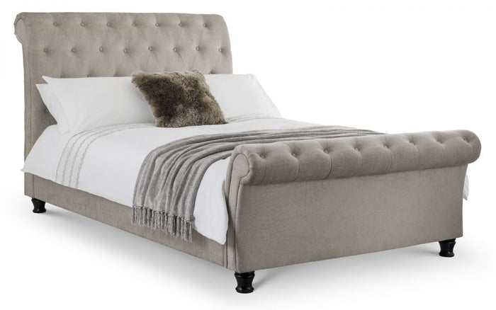 Julian Bowen Ravello Deep Button Scroll Bed Frame