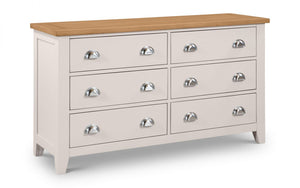 Julian Bowen Richmond 6 Drawer Wide Chest-Better Bed Company
