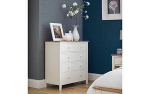 Julian Bowen Salerno 2 tone 1 Drawer Bedside Chest-Better Bed Company