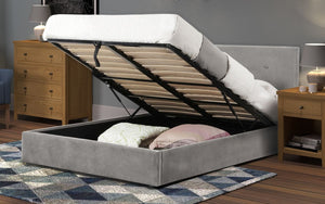 Julian Bowen Shoreditch Storage Bed Frame-Julian Bowen-4ft 6 Double-Better Bed Company
