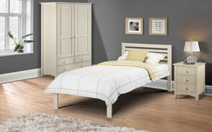 Julian Bowen Slocum White Bed Frame-Better Bed Company