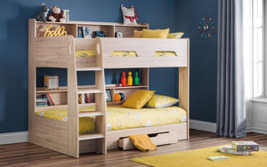 Julian Bowen Orion Sonoma Oak Bunk bed-Better Bed Company