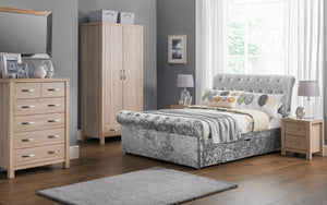Julian Bowen Verona Silver Storage Bed Frame-Better Bed Company
