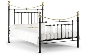 Julian Bowen Victoria Satin Black Metal Bed Frame-Better Bed Company