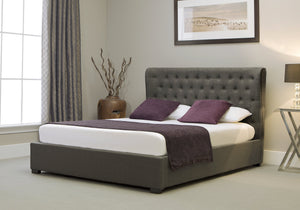 Emporia Beds Kensington Wing Fabric Ottoman Bed-Better Bed Company