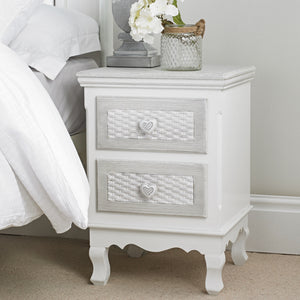 LPD Furniture Brittany 2 Draw Bed Side Table-Bed Side Tables-LPD Furniture-Better Bed Company