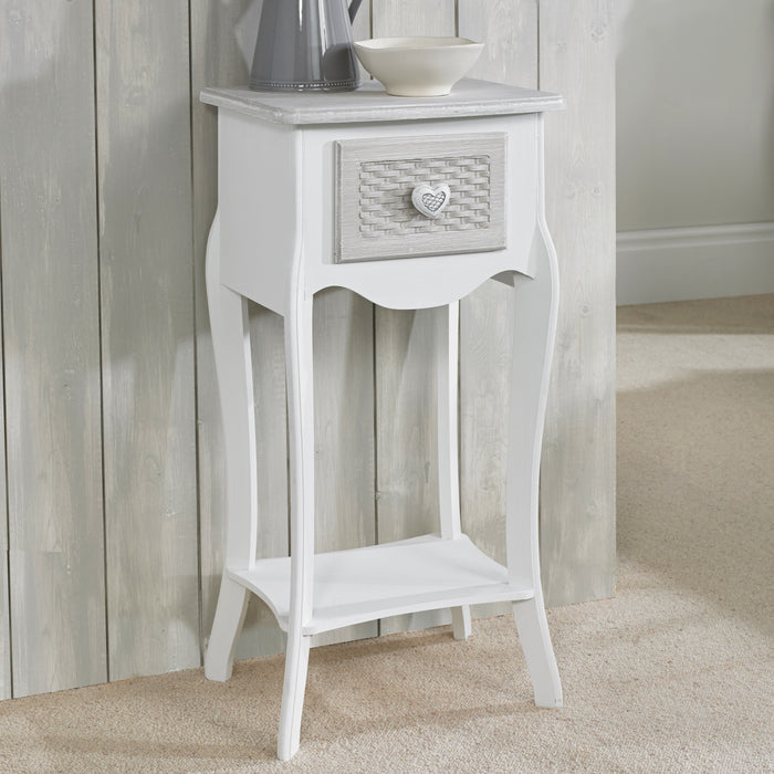 LPD Furniture Brittany 1 Door Side Table