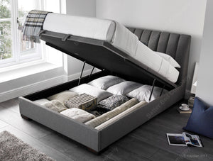 Kaydian Lanchester Artemis Elephant Grey Ottoman Bed Frame Open View-Better Bed Company