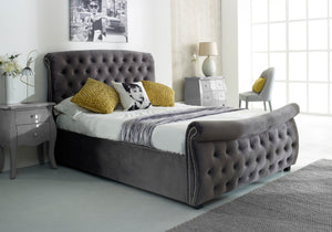 Luccay Silver Fabric Bed-Better Bed Company