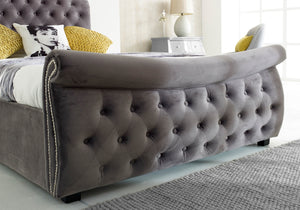 Luccay Silver Fabric Bed-Fabric Beds-Better Bed Company