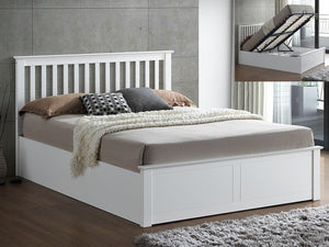 Bedmaster Malmo Wooden Ottoman Bed-Ottoman Beds-Bedmaster-Small Double-White-Better Bed Company