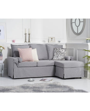 Mark Harris Furniture Celia Grey Linen 3 Seater Reversible Chaise Sofa