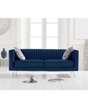 Mark Harris Furniture Danielle Blue Velvet 2 Seater Sofa
