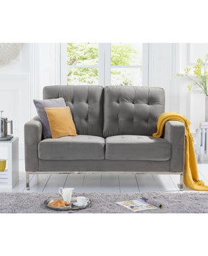 Mark Harris Furniture Lillian Grey Velvet 2 Seater Sofa