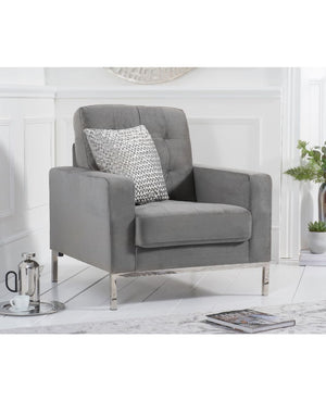 Mark Harris Furniture Lillian Grey Velvet Armchair