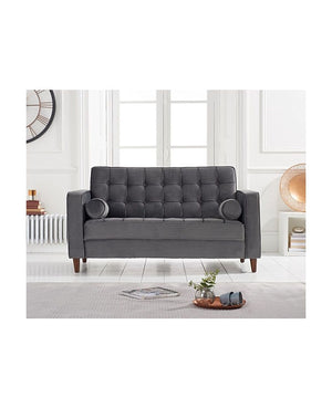 Mark Harris Furniture Riviera Grey Velvet 2 Seater Sofa-Better Bed Company