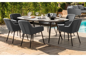 Maze Rattan Zest 6 Sets Oval Dining Set-Better Bed Company