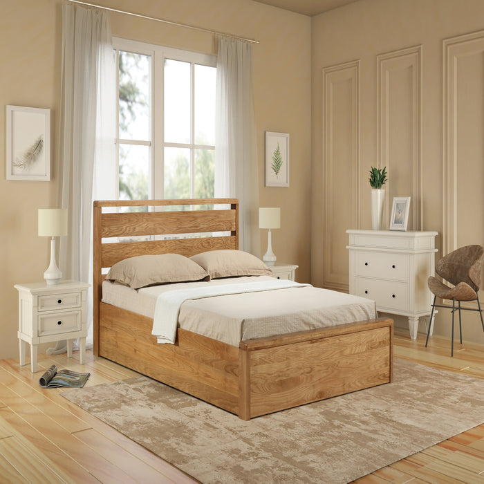 Emporia Beds Modena Solid Oak Ottoman Bed