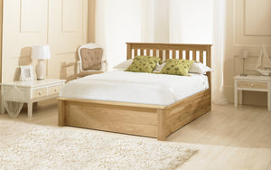 Emporia Beds Monaco Solid Oak Ottoman Bed-Better Bed Company