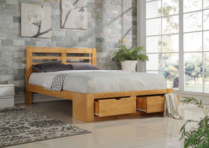 Flintshire Furniture New Bretton Oak Bed Frame-Better Bed Company