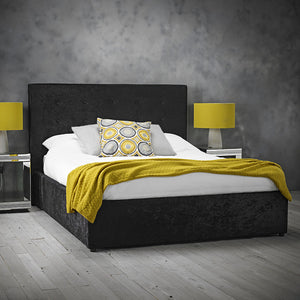 LPD Furniture Rimini Bed-Fabric Beds-LPD Furniture-Single-Black-Better Bed Company