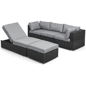 Maze Rattan Rio Corner Group Set Grey-Better Bed Company