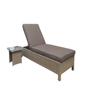 Signature Weave Sarena Rattan Sunbed Set with Coffee Table 12mm half round nature-Better Bed Company