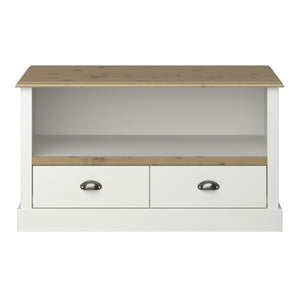 Steens Sandringham Living White And Pine TV Unit-Better Bed Company