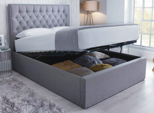 Bedmaster Wilson Ottoman Bed-Ottoman Beds-Bedmaster-Double-Grey-Better Bed Company