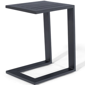 Maze Rattan Aluminium Side Table-Maze Rattan-Black-Better Bed Company