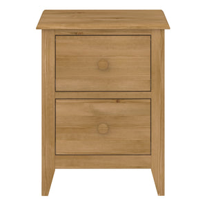 Steens Heston Pine 2 Draw Bed Side Table-Steens-Better Bed Company