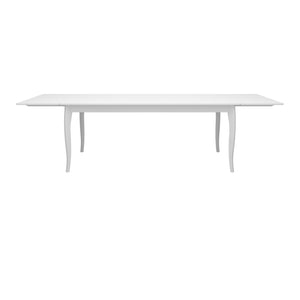 Steens Baroque White Extendable Table-Better Bed Company