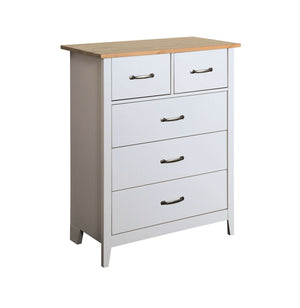 Steens Norfolk Grey And Pine 2+3 Drawer Chest-Chest Of Draws-Better Bed Company