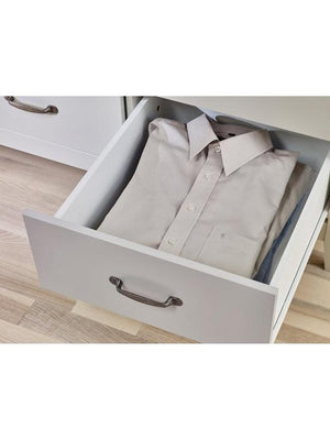 Steens Norfolk Grey And Pine 3 Door 4 Drawer Wardrobe Inside Draw View-Better Bed Company