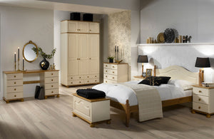 Steens Richmond Cream And Pine Bedroom Set-Better Bed Company