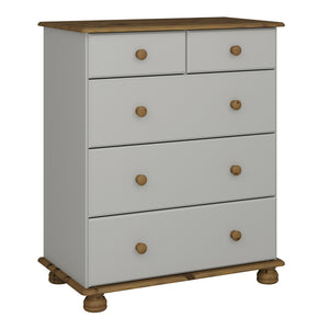 Steens Richmond Grey And Pine 2+3 Deep Chest-Chest Of Draws-Better Bed Company