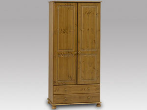 Steens Richmond Pine 2 Door 2 Draw Wardrobe-Better Bed Company