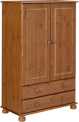 Steens Richmond Pine 2 Door Combi Wardrobe-Wardrobes-Better Bed Company