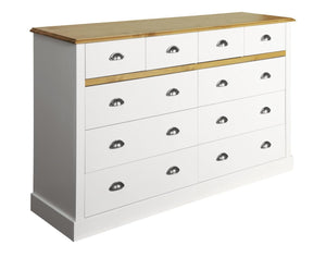 Steens Sandringham White And Pine 4 + 6 Chest Of Draws-Chest Of Drawers-Better Bed Company