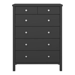 Steens Tromso 2 + 4 Black Chest Of Draws-Better Bed Company