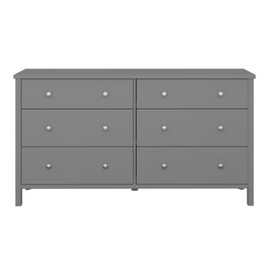 Steens Tromso Grey 3 + 3 Wide Draw Chest Of Draws-Chest Of Drawers-Better Bed Company