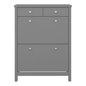 Steens Tromso Grey Shoe Cabinet-Chest Of Drawers-Steens-Better Bed Company
