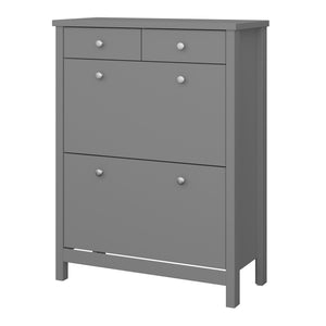 Steens Tromso Grey Shoe Cabinet Side View-Better Bed Company